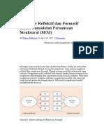 Indikator Reflektif Dan Formatif Dalam Pemodelan Persamaan Struktural