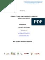 La Narracion Oral Como Posibilidad Autopoietica - Pedro Mario López