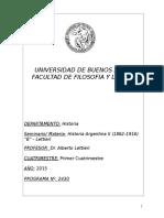 Prof Dr. Alberto Lettieri - Historia Argentina II B 2015 (2430)
