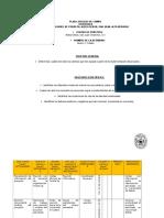 Plan Ejercicio de Campo Evaluación de Proyectos.