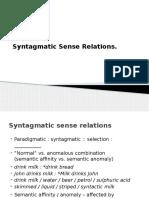 19. Syntagmatic Sense Relations