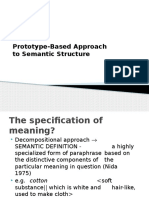 14. Prototype Approach to Semantic Structure