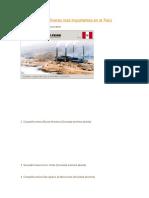 Las Empresas Mineras Más Importantes en El Perú