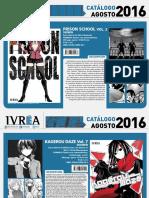 Proximas Novedades Ivrea - Agosto 2016