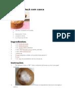 Muffin de Maçã Com Casca
