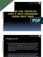 Panduan asas menyunting video audio