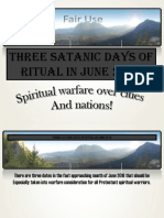 3 Satanic Days of Ritual in June 2016
