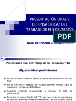 Exposicion Oral y Defensa Del TFG