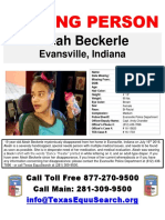Aleah Beckerle Missing Poster