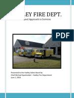 Hadley Fire Dept. Presentation to Select Board