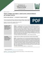 Sepsis urológica secundaria a obstrucción ureteral bilateral por prolapso uterino.pdf