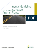 Environmental Guideline for SK Asphalt Plants - May 1 2014
