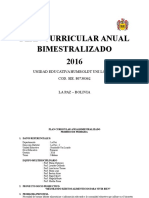 Plan Curricular Anual Bimestralizado (Primero Primaria)