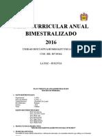 Plan Curricular Anual Bimestralizado (Tercero Primaria)