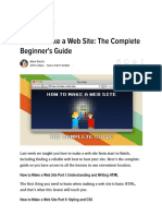 how to make a web site - the complete beginners guide