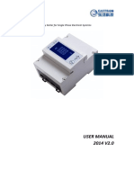 Eastron SDM320M User Manual 2014 V2.0
