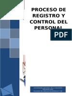 Proceso de Registro y Control Personal