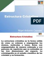 Estructuras Cristalinas