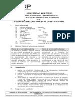 Sílabo Derecho Procesal Constitucional (2016-I)