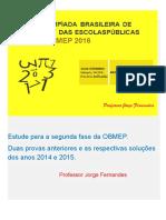 Provas OBMEP 2016 - 2º FASE
