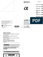 Sony DSLR A350 Manual gUIDE