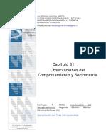 OBSERVACIONES DEL COMPORTAMIENTO Y SOCIOMETRIA
