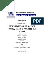 INFORME Nro 02 - Determinacion de Acidez Total, Fija y Volatil en Mostos y Vinos