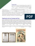 Clasificación de Los Cronistas Del Perú