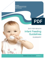 Infant Feeding Guidelines Summary