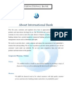 Report on Int'l Bank..