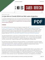 Saber Leyes no es Saber Derecho- Lo que dice el Comité DDHH de ONU sobre Argentina copia