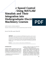 DC Motor Speed Control Methods Using MATLAB- Simulink and Their Integration Into Undergraduate Electric Machinery Courses