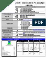 Calendário Acadêmico Pos