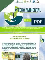"""V Foro Ambiental """"Transformando al medio"""""""