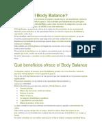 Qué Es El Body Balance