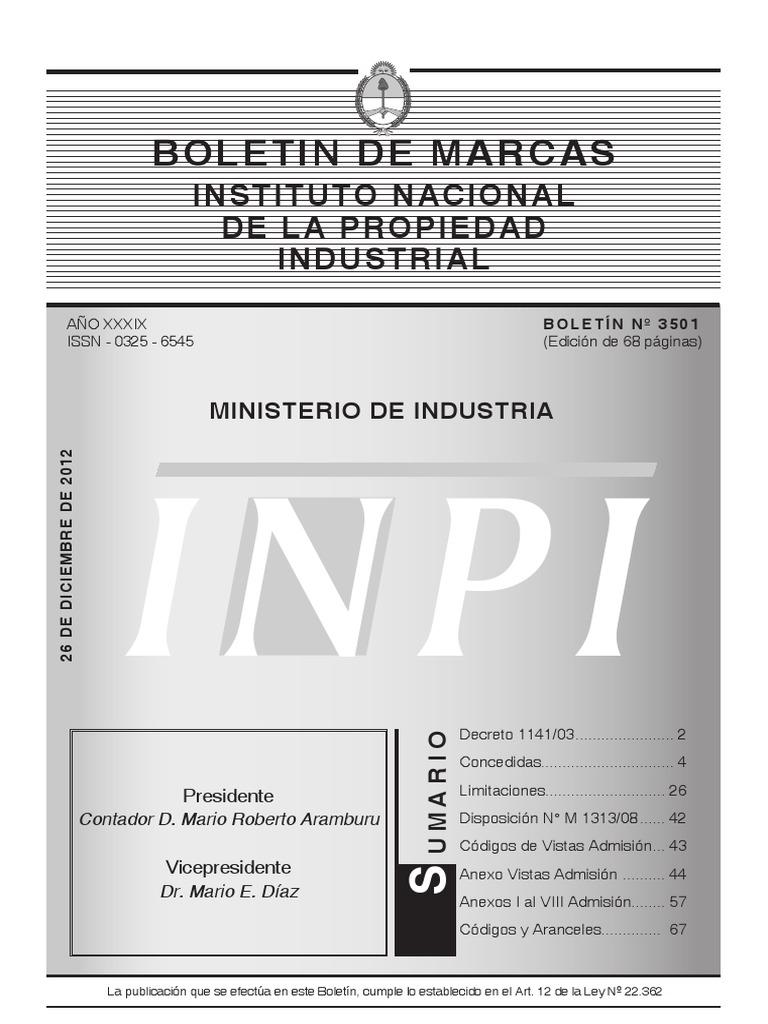 Boletin de Marcas 2012 90931cdae4b9c