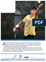 Tennis Nutrition