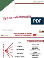 9631 La Evaluacion en El Sistema Educativo Bolivariano