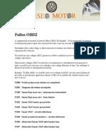 Fallos Obd2 p1000 a Pxxxx