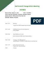 Islamabad Meeting Agenda