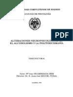 Alteraciones Neuropsicologicas en Alcoholismo