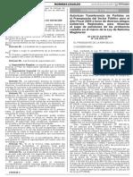 D.S. Nº 236-2016-EF, PAGO DE PENSIONES DE PROFESORES CESADOS