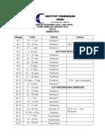Kalendar Akademik Sem 2 2016