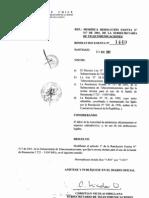 Resolucion Exenta n°1440 Banda 5.8Ghz para uso de Exterior en Chile