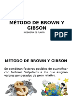 Método de Brown y Gibson
