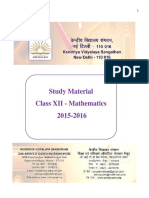 Maths Study Material 2015 16