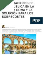 Adjudicaciones de Obra Pública en La Antigua Roma y La Solución Para Los Sobrecostes