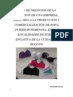 Plan de Negocios de Empresa de Produccion y Comercialización de Underwear