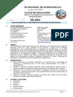 SILABO Informática Aplicada a La Educación Inicial