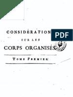 Charles Bonnet-Considerations Sur Les Corps Organises 1768 I
